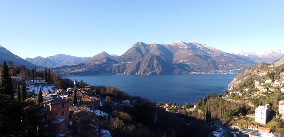 flying over Varenna watching the opposite bank from Griante to Menaggio