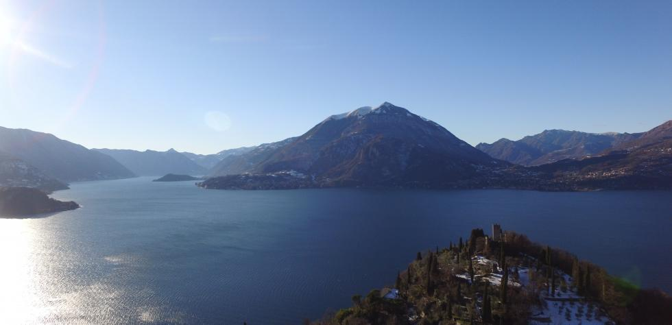 Flying over Varenna and il Vezio's Castle